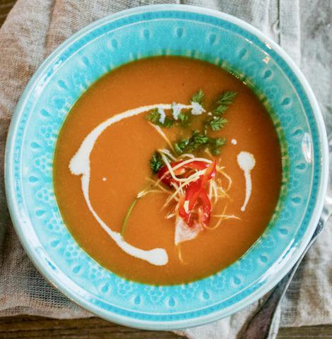 Søtpotet Suppe Med Kylling Supercook